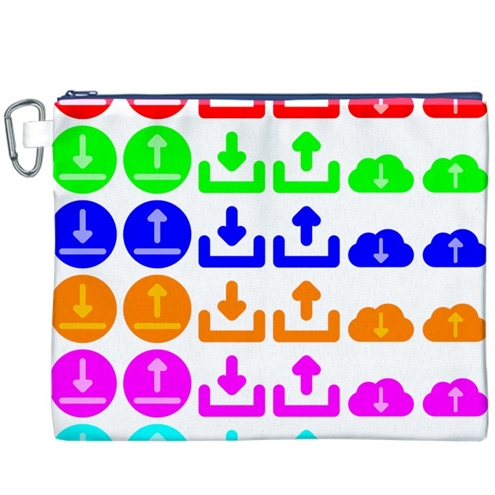 Download Upload Web Icon Internet Canvas Cosmetic Bag (XXXL)