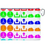 Download Upload Web Icon Internet Canvas Cosmetic Bag (XXXL) Back