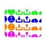 Download Upload Web Icon Internet Double Sided Flano Blanket (Mini)  35 x27 Blanket Back