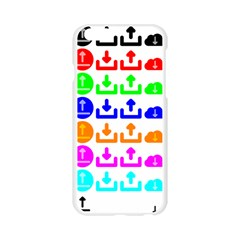 Download Upload Web Icon Internet Apple Seamless iPhone 6/6S Case (Transparent)
