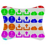 Download Upload Web Icon Internet Jigsaw Puzzle Photo Stand (Bow) Front