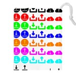 Download Upload Web Icon Internet Drawstring Pouches (XXL) Front