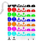 Download Upload Web Icon Internet Drawstring Pouches (XXL) Back