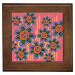Colorful Floral Dream Framed Tiles Front