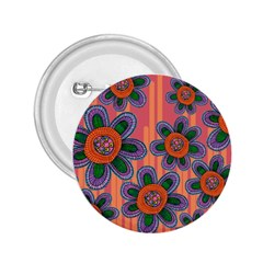 Colorful Floral Dream 2 25  Buttons