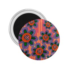 Colorful Floral Dream 2 25  Magnets