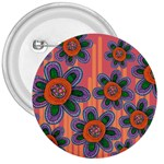 Colorful Floral Dream 3  Buttons Front