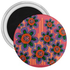 Colorful Floral Dream 3  Magnets