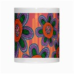 Colorful Floral Dream White Mugs Center