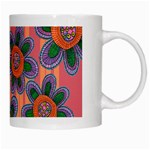 Colorful Floral Dream White Mugs Right