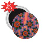 Colorful Floral Dream 2.25  Magnets (100 pack)  Front