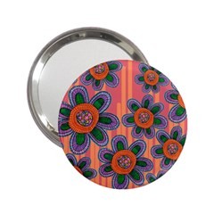 Colorful Floral Dream 2 25  Handbag Mirrors