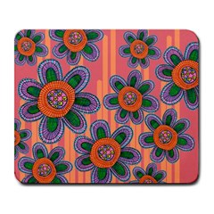 Colorful Floral Dream Large Mousepads