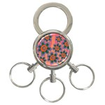 Colorful Floral Dream 3-Ring Key Chains Front
