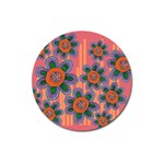 Colorful Floral Dream Magnet 3  (Round) Front
