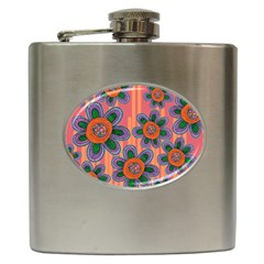 Colorful Floral Dream Hip Flask (6 Oz)