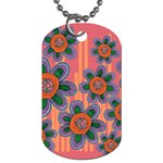 Colorful Floral Dream Dog Tag (Two Sides) Front
