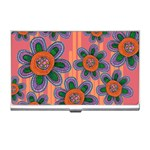 Colorful Floral Dream Business Card Holders Front