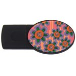 Colorful Floral Dream USB Flash Drive Oval (1 GB)  Front