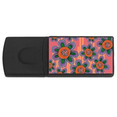 Colorful Floral Dream USB Flash Drive Rectangular (2 GB)