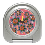 Colorful Floral Dream Travel Alarm Clocks Front