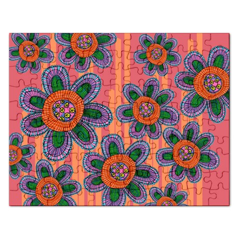 Colorful Floral Dream Rectangular Jigsaw Puzzl