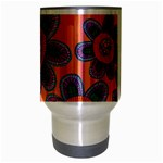 Colorful Floral Dream Travel Mug (Silver Gray) Center