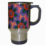 Colorful Floral Dream Travel Mugs (White) Right