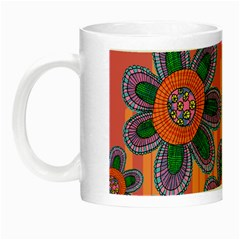 Colorful Floral Dream Night Luminous Mugs