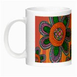 Colorful Floral Dream Night Luminous Mugs Left