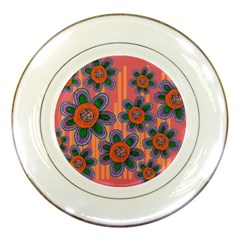 Colorful Floral Dream Porcelain Plates