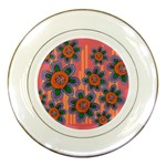 Colorful Floral Dream Porcelain Plates Front