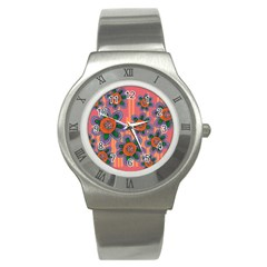 Colorful Floral Dream Stainless Steel Watch