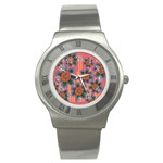Colorful Floral Dream Stainless Steel Watch Front