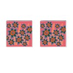 Colorful Floral Dream Cufflinks (Square) Front