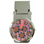 Colorful Floral Dream Money Clip Watches Front