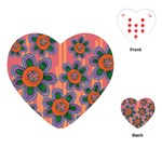 Colorful Floral Dream Playing Cards (Heart)  Front