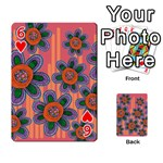 Colorful Floral Dream Playing Cards 54 Designs  Front - Heart6