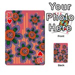 Colorful Floral Dream Playing Cards 54 Designs  Front - Heart10