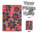 Colorful Floral Dream Playing Cards 54 Designs  Front - HeartQ