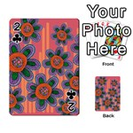Colorful Floral Dream Playing Cards 54 Designs  Front - Club2