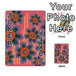 Colorful Floral Dream Playing Cards 54 Designs  Front - Joker1