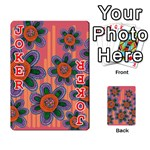 Colorful Floral Dream Playing Cards 54 Designs  Front - Joker2