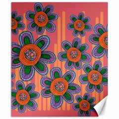Colorful Floral Dream Canvas 8  X 10