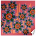 Colorful Floral Dream Canvas 12  x 12   12 x12 Canvas - 1