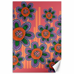 Colorful Floral Dream Canvas 12  X 18