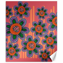 Colorful Floral Dream Canvas 20  X 24