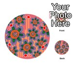 Colorful Floral Dream Playing Cards 54 (Round)  Front - DiamondJ