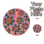 Colorful Floral Dream Playing Cards 54 (Round)  Front - Club3