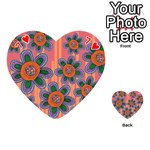 Colorful Floral Dream Playing Cards 54 (Heart)  Front - Heart7